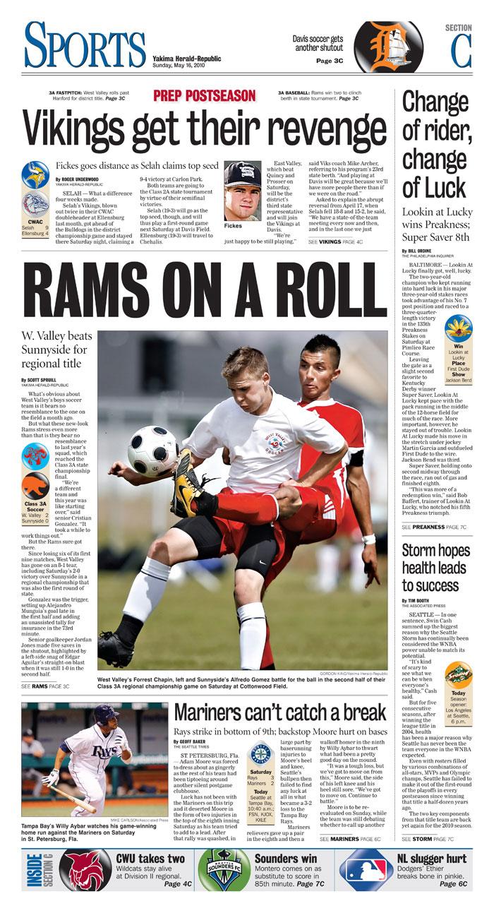 Sports — May 16, 2010